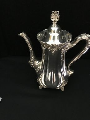 Lot 113 Sterling Silver Coffee Pot ITEM CAN BE PICKED UP IN WEST HEMPSTEAD