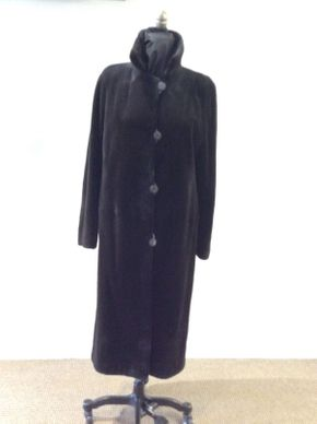 Lot 047 Brown Sheared Mink Reversible Size 12 Length 44in Sleeve 30in Sweep 58in Style 3373