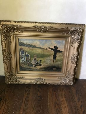 Lot 035 Antique Oil Painting on Canvas  ITEM CAN BE PICKED UP IN VALLEY STREAM