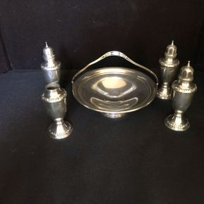Lot 040 Lot of Sterling Silver Candy Dishes ITEM CAN BE PICKED UP IN VALLEY STREAM