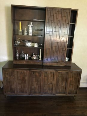 Lot 045 Mid Century Breakfront ITEM CAN BE PICKED UP IN VALLEY STREAM