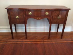 Lot 048  Statton Sideboard With Pads Approx 63L x 36H x 21D  ITEMS CAN BE PICKED UP IN GARDEN CITY