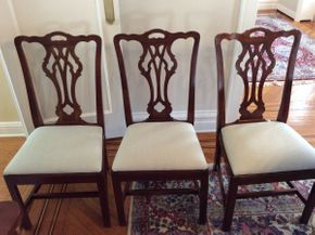 Lot 049 Lot Of 8 Statton Dining Room Chairs 6 Side Chairs 39H x 19W x 18D 2 Ar Chairs 30H x 24W X 18D  ITEMS CAN BE PICKED UP IN GARDEN CITY