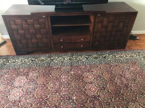 Lot 060 Century 2 Drawer 2 Cabinet Entertainment Unit  ITEM CAN BE PICKED UP IN GARDEN CITY