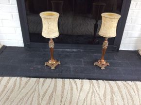 Lot 064 Pair Of  17 Inch Candle Lamps   ITEMS CAN BE PICKED UP IN GARDEN CITY
