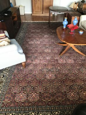 Lot 056 Handmade Rug with Fringe  ITEM CAN BE PICKED UP IN GARDEN CITY
