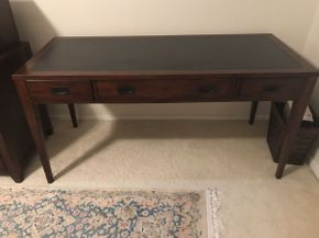 Lot 066 Hooker Furniture Desk with 3 Drawers  ITEM CAN BE PICKED UP IN GARDEN CITY