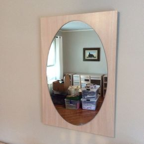Lot 071 Bellini Formica Mirror 35x24  ITEMS TO BE PICKED UP IN GARDEN CITY