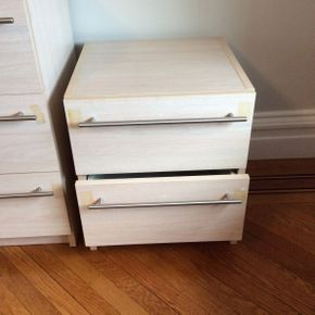 Lot 070 Bellini Formica 2 Drawer Night Stand 20H x 18D x 18W  ITEMS CAN BE PICKED UP IN GARDEN CITY