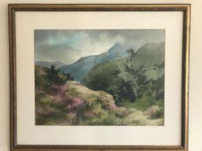 Lot 071 Watercolor By Local Artist Marion B. Brown  ITEM CAN BE PICKED UP IN GARDEN CITY