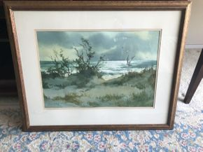 Lot 074 Watercolor by Local Artist Marion B. Brown  ITEM CAN BE PICKED UP IN GARDEN CITY