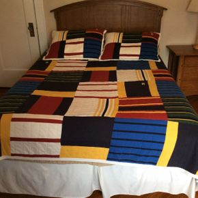 Lot 089 Lot Of Nautical  Full/Queen Size Bedding   ITEMS TO BE PICKED UP IN GARDEN CITY