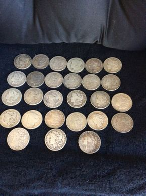 Lot 015 Lot of 27 US Silver Dollars ITEMS TO BE PICKED UP IN WEST HEMPSTEAD