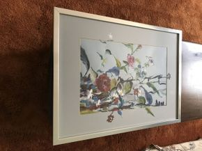 Lot 012 Signed Water Color by Eleanor Noble Kaplan Runaway Garden ITEM CAN BE PICKED UP IN GARDEN CITY