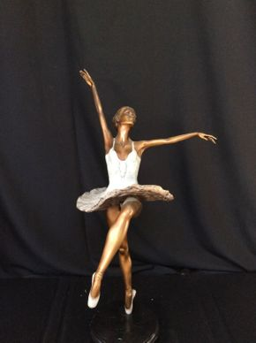 Lot 071 Bronze Ballerina Dancer Signed Mario 33.5in Tall  ITEMS TO BE PICKED UP IN MANHASSET HILLS