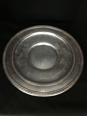 Lot 006 Sterling Silver Platter ITEM CAN BE PICKED UP IN FOREST HILLS