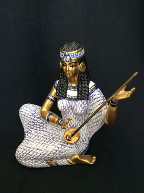 Lot 078 Edoardo Tasca Egyptian Style Figurine 8in Tall  ITEMS TO BE PICKED UP IN MANHASSET HILLS