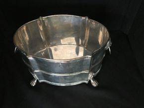 Lot 011 Footed Silver Plated Bucket  ITEM CAN BE PICKED UP IN FOREST HILLS