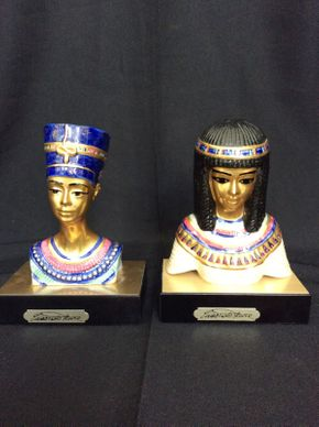 Lot 095 Pair of Edoardo Tasca Egyptian Porcelain Bust 6in Tall  ITEMS TO BE PICKED UP IN MANHASSET HILLS