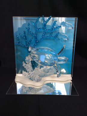 Lot 085 Swarovski Crystal Wonders Of The Sea Sea Turtle 7.5x8   ITEMS TO BE PICKED UP IN MANHASSET HILLS