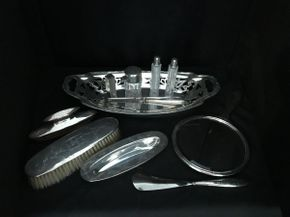 Lot 020 Sterling Silver Alvin Dresser Set ITEM CAN BE PICKED UP IN FOREST HILLS