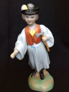 Lot 137 Herend 5569-0-00 Boy with Ax Figurine 3x6  ITEMS TO BE PICKED UP IN MANHASSET HILLS