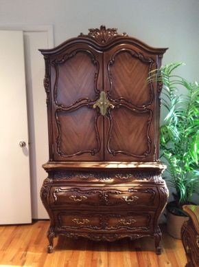 Lot 106 Fruit Wood Armoire 22x44wx79h  ITEMS TO BE PICKED UP IN MANHASSET HILLS