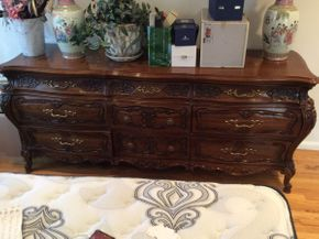 Lot 107 Fruit Wood Triple Dresser 27hx23wx18d  ITEMS TO BE PICKED UP IN MANHASSET HILLS