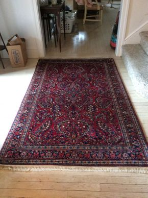 Lot 014 Handmade Sarouk Rug 82x49  ITEMS CAN BE PICKED UP IN RVC