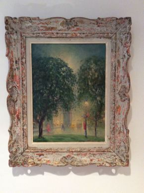 Lot 018 Oil on Board Signed by Betsy Wilson 22 1/4x18.5 Frame to Frame  ITEMS CAN BE PICKED UP IN RVC