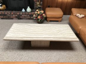 Lot 019 Stone Coffee Table ITEM CAN BE PICKED UP IN JERICHO
