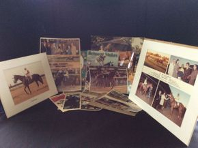 Lot 030 Belmont Track Horse Racing Memorabilia ITEMS TO BE PICKED UP IN WEST HEMPSTEAD