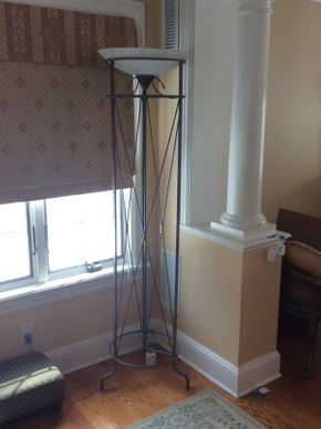 Lot 032 Wrought Iron Lamp 73in Tall   ITEMS TO BE PICKED UP IN EAST HILLS