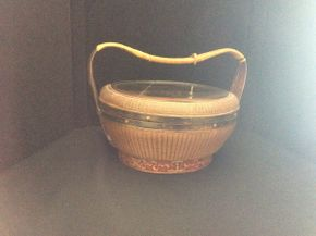 Lot 034 Antique Ratan Chinese Basket  ITEMS TO BE PICKED UP IN EAST HILLS