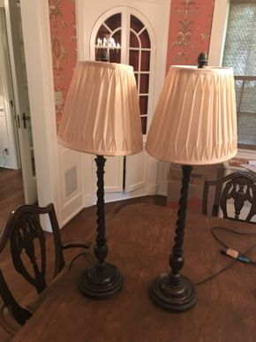 Lot 026 Lot of 2 Lamps  ITEM CAN BE PICKED UP IN GARDEN CITY
