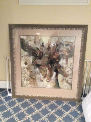 Lot 049 Framed Abstract 51x48.5   ITEMS TO BE PICKED UP IN EAST HILLS