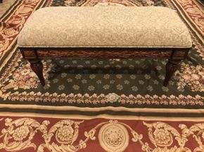 Lot 036 Bombay Upholstered Bench ITEM CAN BE PICKED UP IN GARDEN CITY