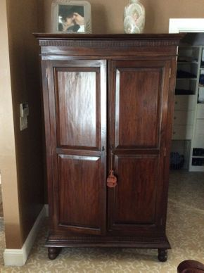 Lot 062 Custom Made Mahogany Wardrobe 43x25.5x74  ITEMS TO BE PICKED UP IN EAST HILLS