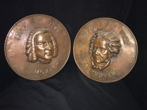 Lot 004 Pair Of Copper Plated 15 Inches In Diameter PICK UP IN NORTH BELLMORE