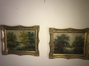 Lot 005 Pair Of Signed ALVERA Oils on Canvas 15x11 PICK UP IN NORTH BELLMORE