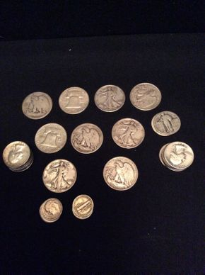 Lot 068 Lot of Sterling Silver American Coins ITEM TO BE PICKED UP IN GARDEN CITY