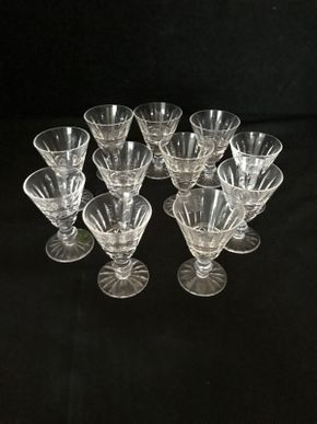Lot 021 Lot of Eleven Waterford Crystal Cordial Glasses 3 Inches Tall. PICK UP IN LAKE GROVE