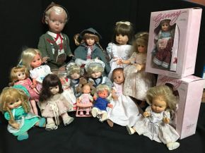 Lot 026 Lot Of Assorted Dolls-Including Ginny and Zertifikat and Accessories. PICK UP AT LAKE GROVE