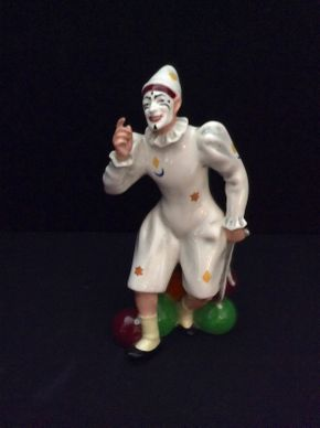 Lot 012 Royal Doulton The Joker Figurine  ITEM CAN BE PICKED UP IN GARDEN CITY