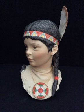 Lot 017 Cybis Native American Indian Princess ITEM TO BE PICKED UP IN GARDEN CITY