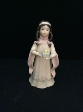 Lot 019 Goebel Native American Girl with Gift Signed By Laszlo Ispanky ITEM TO BE PICKED UP IN GARDEN CITY