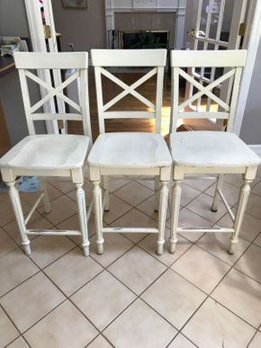 Lot 037 Lot of Three Bar Stools From Pier One Imports. Approx 41H X 15.75W X 16L. PICK UP IN HUNTINGTON