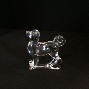 Lot 045 Baccarat Clear Crystal Dog ITEM CAN BE PICKED UP IN ATLANTIC BEACH
