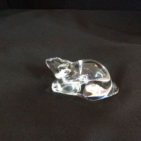 Lot 044 Baccarat Clear Crystal Rat  ITEM CAN BE PICKED UP IN ATLANTIC BEACH