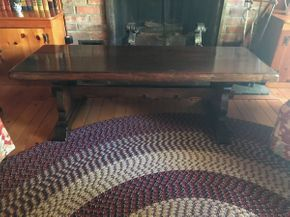 Lot 016 Pine Coffee Table 17H x 19.5W x 54L PICK UP IN EAST MEADOW